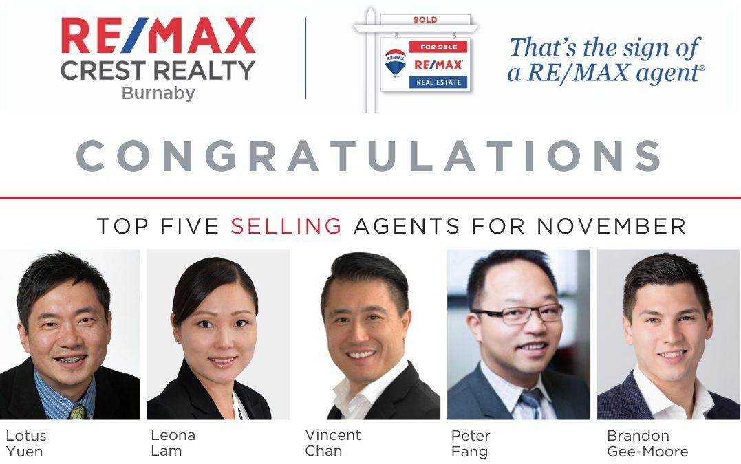 REMAX Top 5 Realtor – Lotus Yuen PREC in Nov 2019