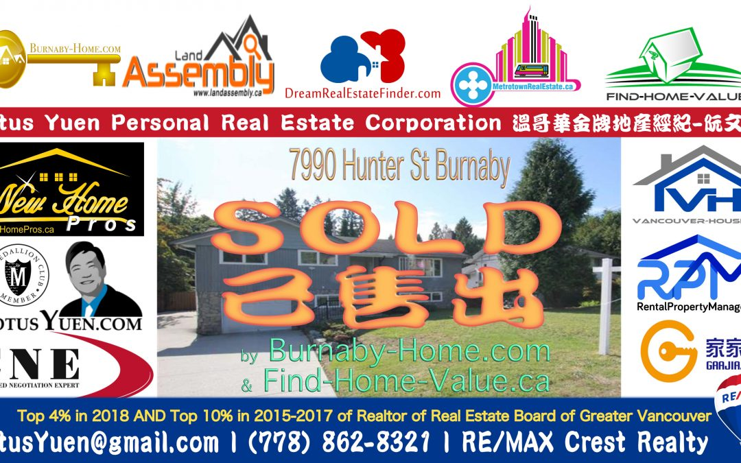 BURNABY NORTH HOUSE SOLD – 7990 Hunter St Burnaby