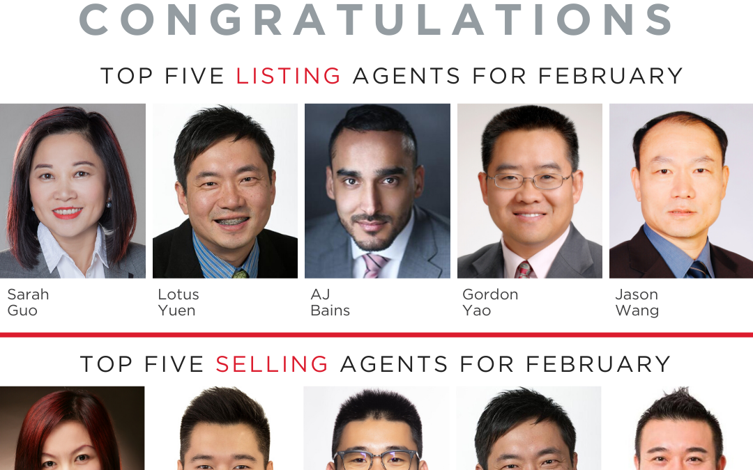 REMAX Crest Realty Top 5 Listing and Selling Realtor in Feb 2020